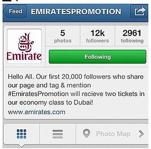 The branding is there, the name may be dodgy, but there's no official Emirates account. So why not believe it?