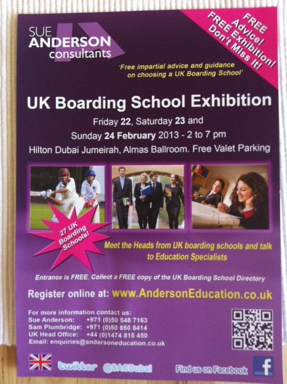 There's always an alternative but would your child be happier and better off boarding in the UK than going to school in Dubai? And would it be cheaper?