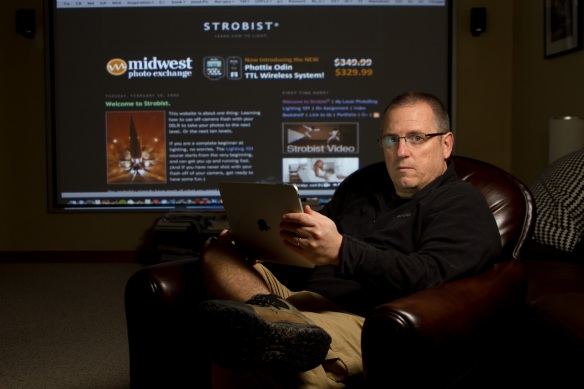 David Hobby is the man behind strobist.com. If you haven't checked it out please do, now! (credit: lisadierolfphotography.com)
