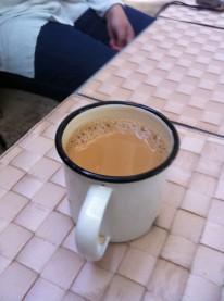 I just love this stuff. Chai kerak or cardamon tea. Much better than Red Bull!