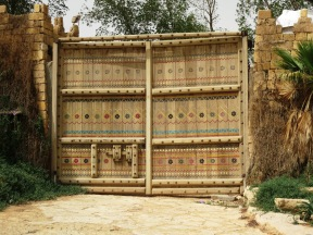 Diriyah has some wonderful hand-crafted and painted doors, such as the one in the picture