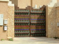 Here's another painted farm door in Diriyah, on the road to Wadi Hanifah