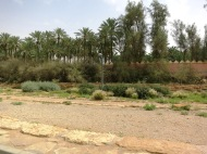 This is a picture of Wadi Hanifah's water spillway (obviously, when dry)