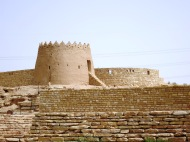 This is one of the old mud watchtowers in Diriyah, on the path to Al Elb Dam