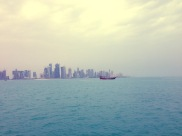 This is one image which was submitted to Doha News, of the capital. Credit - George Rishan