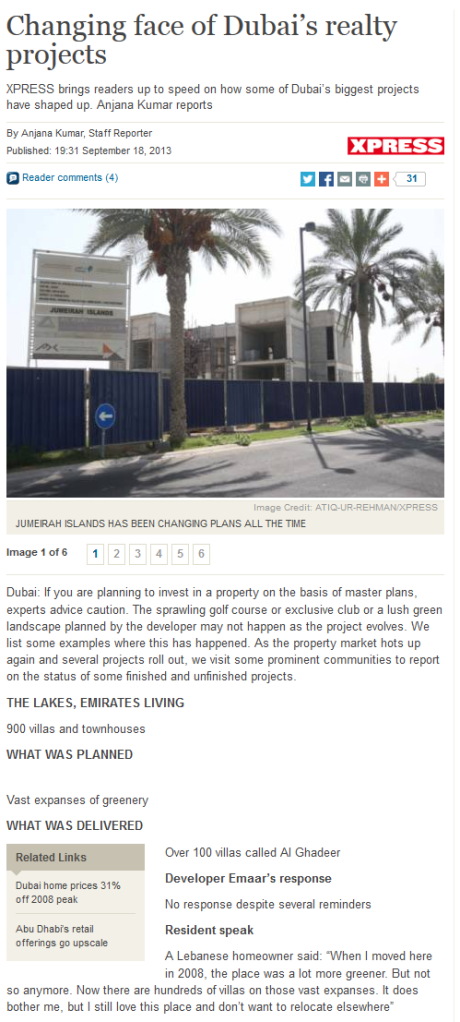 XPRESS regularly focuses on stories that engage the community including this piece on how developers have not kept their word on project developments