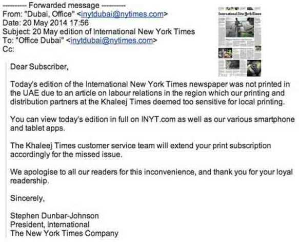 The timing of the decision not to print the New York Times in the UAE couldn't have been worse for MBC's Al Ibrahim