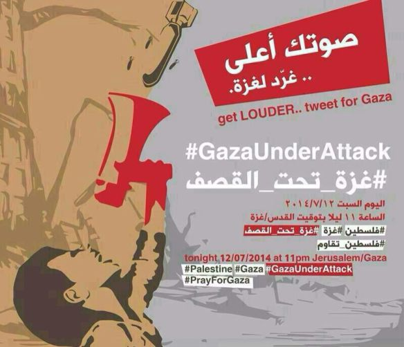 The #GazaUnderAttack image was spread via Whatsapp before the campaign was launched on Twitter