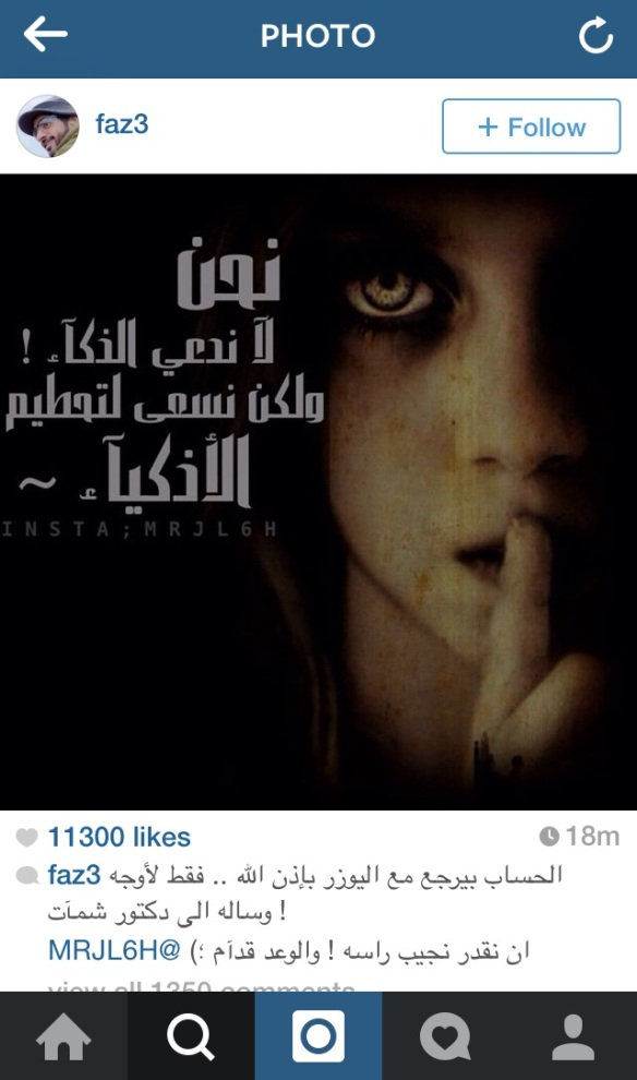 The hacker @MRJL6H posted several images highlighting his/her views on Sheikh Hamdan's Instagram account