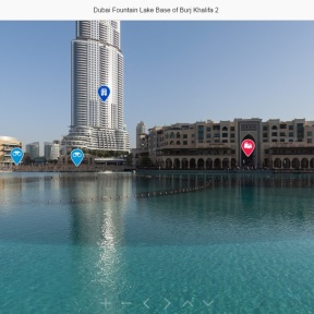 A screenshot image of Dubai's iconic Burj Khalifa from the Dubai 360 site