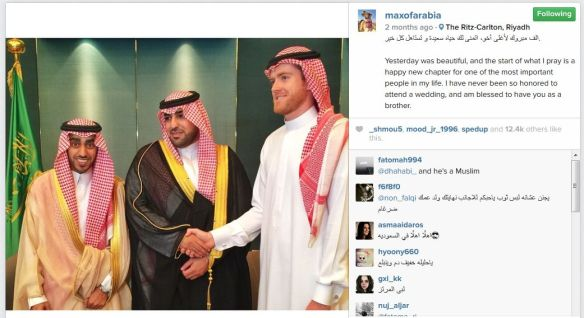 Max even looks good in a thob - here at a wedding in Riyadh