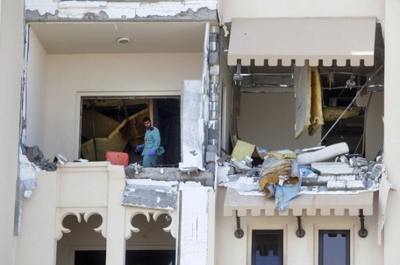 The money picture of the gas blast flat was captured on the second day by The National (image source: The National)