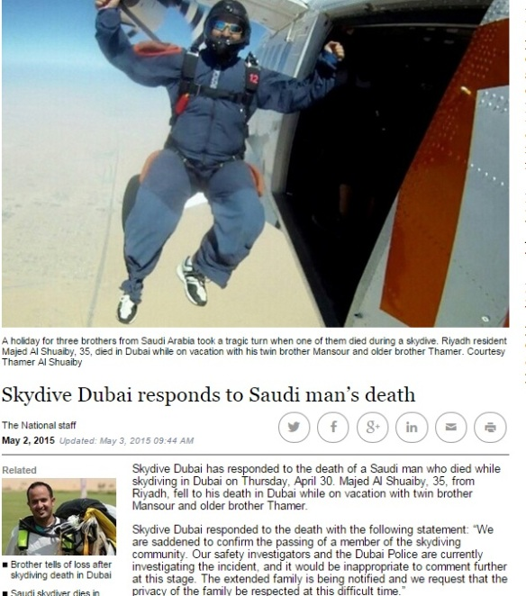 Was the statement from Skydive Dubai enough or could they have done more?