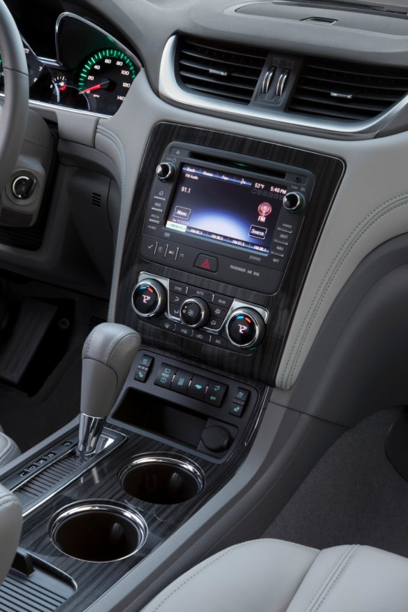 The Traverse's panel display was crisp and easy to use. The GPS handled Dubai's road network with ease.