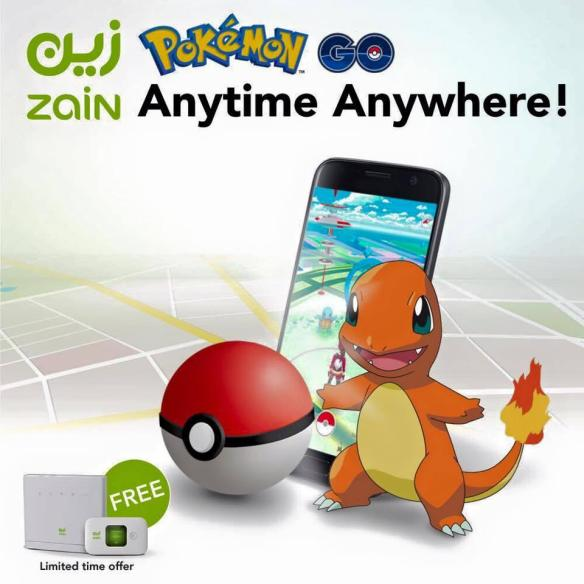 Saudi telco Zain became the first household brand to use Pokemon Go when it ran this advert across its social media channels early this week.