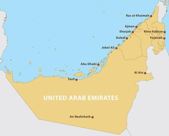 united-arab-emirates-map